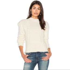 Anine Bing Chunky Knit Wool Blend Sweater